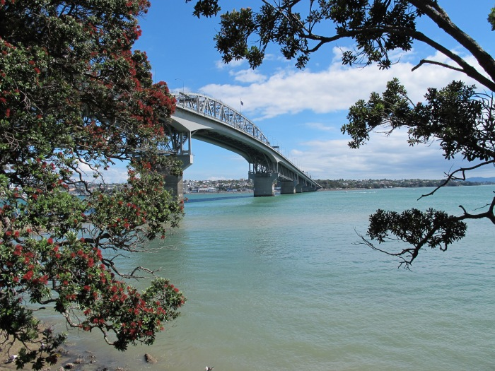 Auckland Harbour Bridge from Northcote Pier